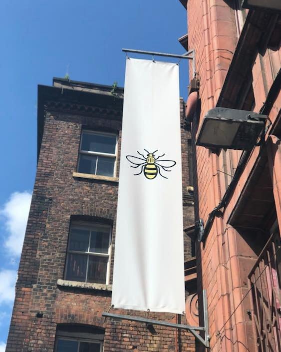 worker-bee-flag-manchester-northern-quarter